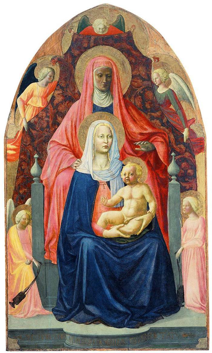 Sant'Anna Metterza, Masolino e Masaccio, Uffizi, Firenze