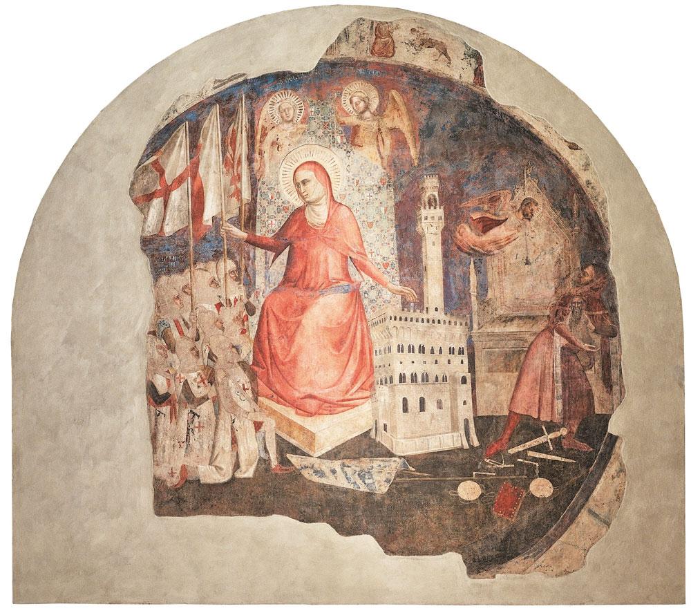 Cacciata del Duca d'Atene, Andrea Orcagna, affresco
